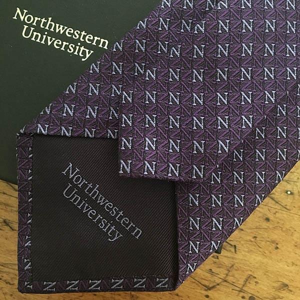 Harris Made for Northwestern University - Silk Tie and Gift Box