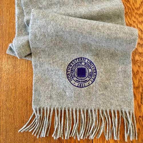northwestern university cashmere scarf